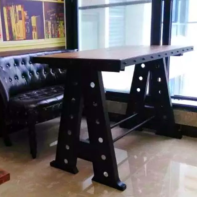 Industrial Loft Eiffel Tower Stand Dining Study Table Desk