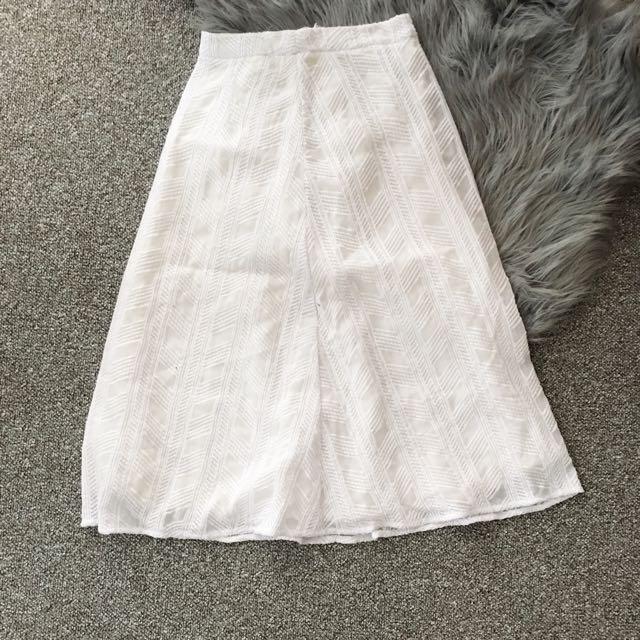 KOOKAÏ Antoinette White High Waist Skirt