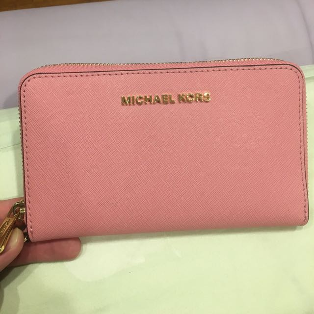 Michaelkors 美國帶回 全新皮夾 粉色