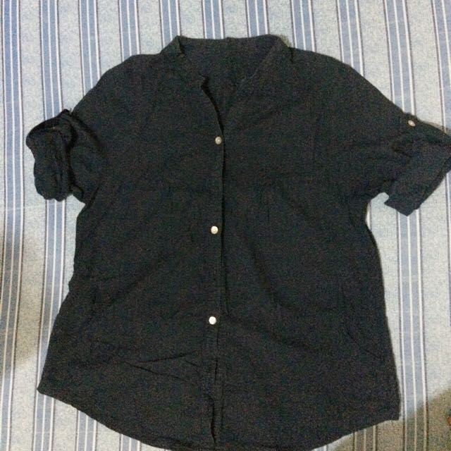 Navy blue 3/4 (can be fold to short sleeves)