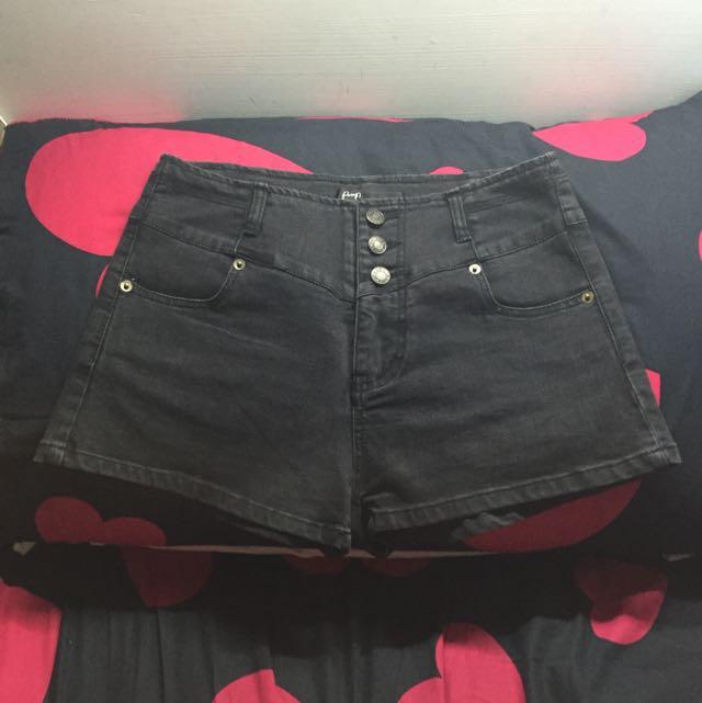 Pazzo排釦高腰短褲