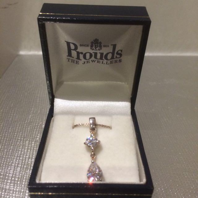 Prouds Jewellery Necklace Cubic Zirconia