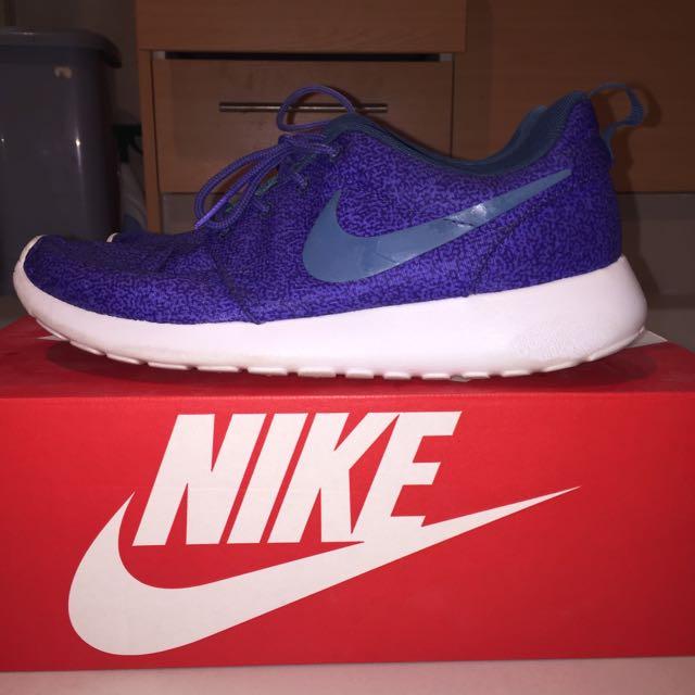 Purple & Green Print Nike Roshe Run