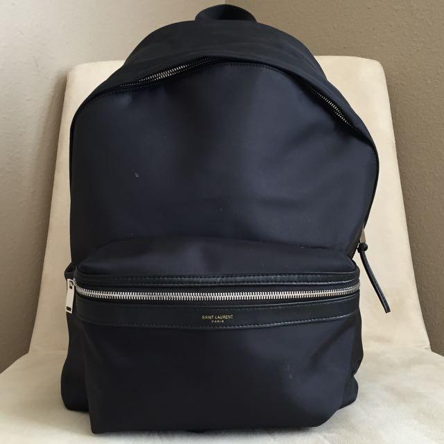 Saint Laurent Hunting Backpack In Black Nylon