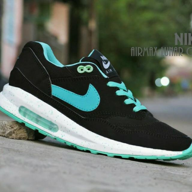 info for cb958 f1fa3 Sepatu Nike Airmax Lunar One Women  Hitam Tosca  casual sport, Everything  Else on Carousell