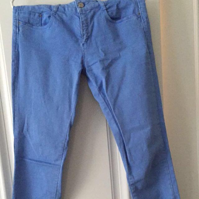 Skinny Blue Zara Jeans Size 6