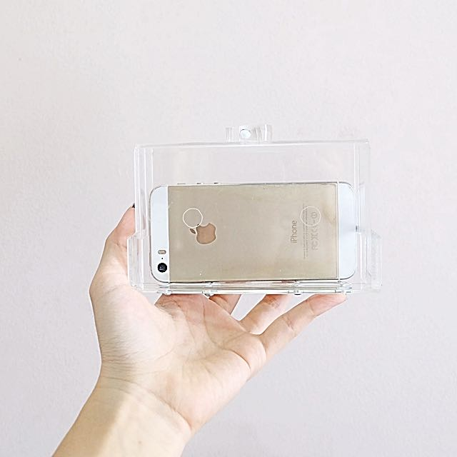 Small Glass Clear Clutch