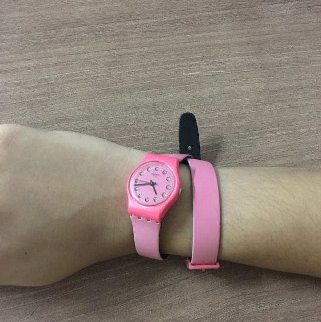 Swatch Original Pink-black