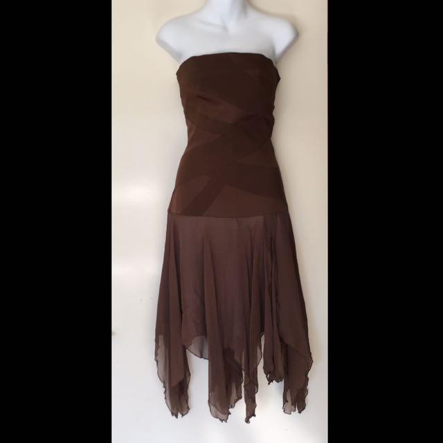 Truese Silk Formal Designer Dress Size 10