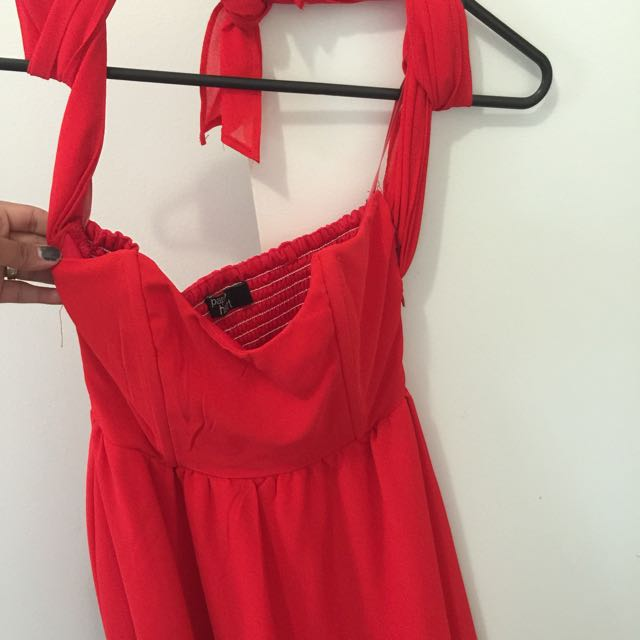 Women Red Dress Size8