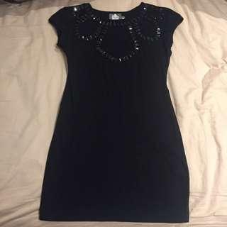 Formal Mini Black Dress (House Of Wilde)