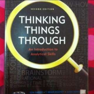 Thinking things through - SMU Analytical Skills textbook (RESERVED)