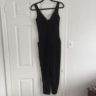 Black Deep V Onesie