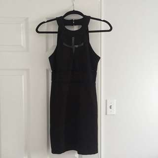 GUESS Cut Out Body Con Dress