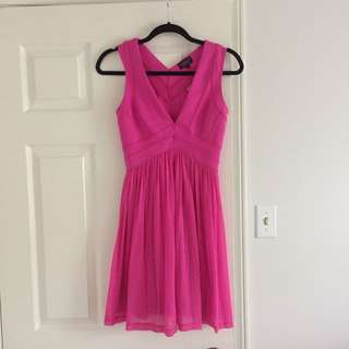 Top Shop Hot Pink Dress