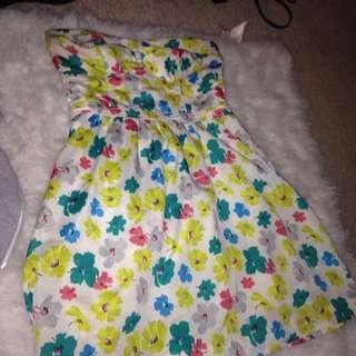 Floral Strapless Sun Dress