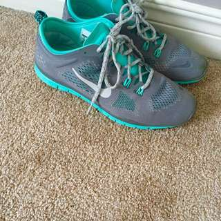 Nike Grey And Mint Running Shoes