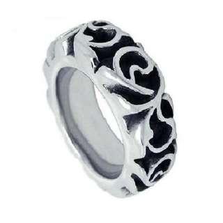 Cincin Pria Ukir Kerf Carved Ring Titanium Steel