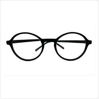 Kacamata Pria Wanita Bulat Hitam Man Woman Full Frame Round Eyeglasses