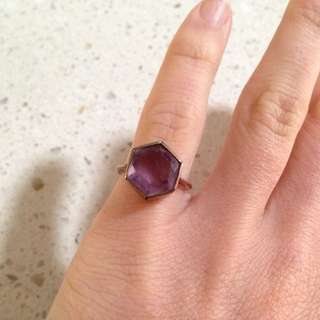 Small Purple Stone Pinkie Ring