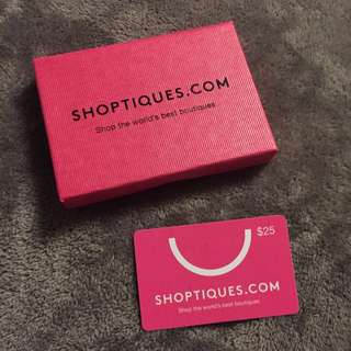 $25 Gift Card For Shoptiques.com