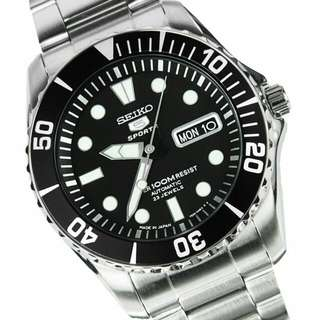 Fixed Price with delivery. This is the best price.  Brand New In Box Seiko 5 Japan Sports Automatic Divers Mens Watch SNZF17K1 With 1 Year Warranty Sea Urchin Limited Pieces Only
