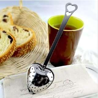 Heart Shaped Stainless Steel Tea Strainer