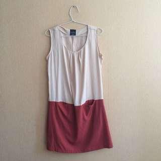 ZARA Peach Red Dress Size S/36