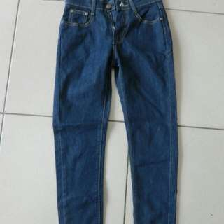 深藍牛仔長褲