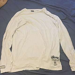 Stussy Custom Made White Lone Sleeve