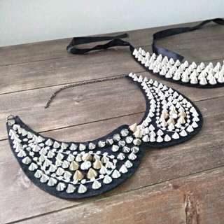 Studded Spike Faux Collar/necklace