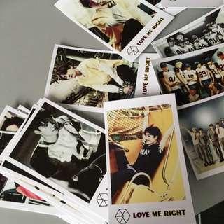EXO Love Me Right Fanmade Polaroids