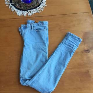 Light Denim Mid Rise Jeans