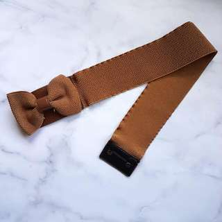 Brown Bow Wide Belt