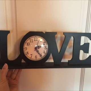 Love clock/sign