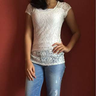 Charlotte & Russe Lace Top