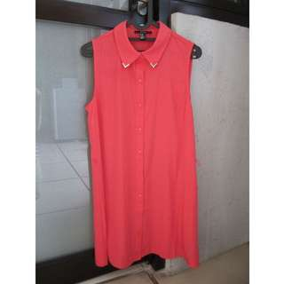 Forever 21 Coral Shirt Dress size M