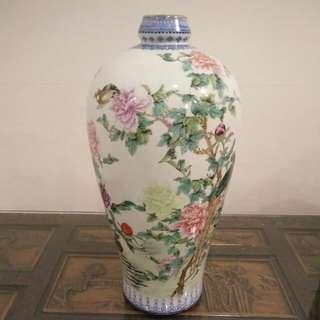 Porcelain Vase Jin De Zheng 陶瓷 景德镇 梅瓶 1979