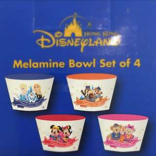 Disney characters Bowl Set (4pcs)