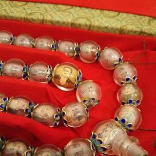 Handmade Handdrawn 108 Luo Han Beads 108 粒罗汉佛珠 手工做内画