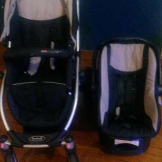 Steelcraft Pram And Car Seat