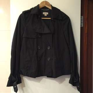 Witchery Black Short Trench Size 8