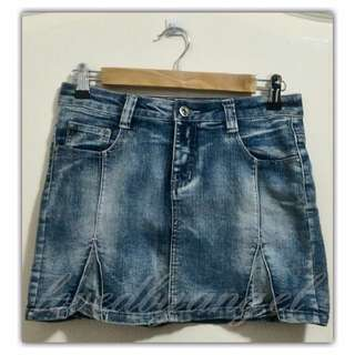 Jeans Skirt (080616-5BLU)