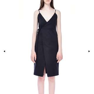 The Editor's Market Black Wrap Dress