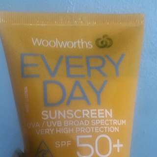 Sun Screen From Woolworth