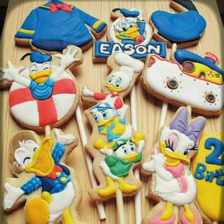 Cookids手作烘焙 唐老鴨主題生日糖霜餅乾