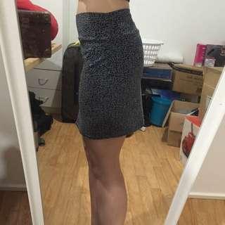 Cotton On Leopard Skirt Size M