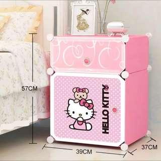 Kitty凱蒂貓床頭櫃簡約現代組裝衣櫃