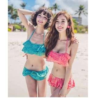 Korea Style Swimwear Bikini Set; Bathsuit; Beach Wear