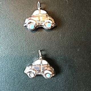 BN Pair Of Sterling Silver Car Pendants